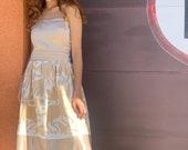 San Miguel Rehearsal Diner Dress - Soft Camel Otomi Dress - wedding- Wedding Beige - Otomi embroidery