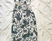 Otomi Strapless Midi or long Tube Pencil Dress Fitted charcoal gray