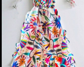 Otomi Wedding dress Multicolor Custom made - As a featured in ArteOtomi Instagram account