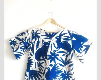 The Cat lover Otomi blouse   Made with love by Otomi indigenous women