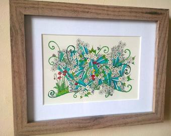 Tiny Poppies - a hand drawn original