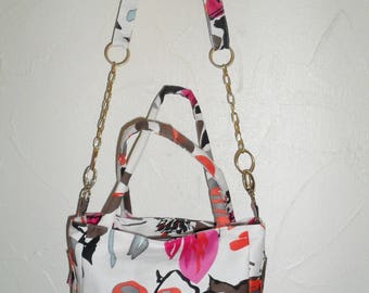 """chain and cotton fabric shoulder bag """"ColaPass'"""""""