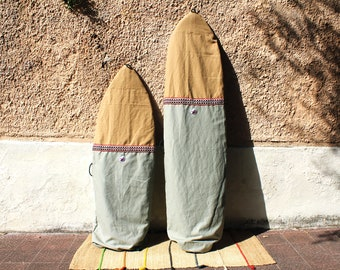 Sage Green Sustainable Canvas Surfboard Bag