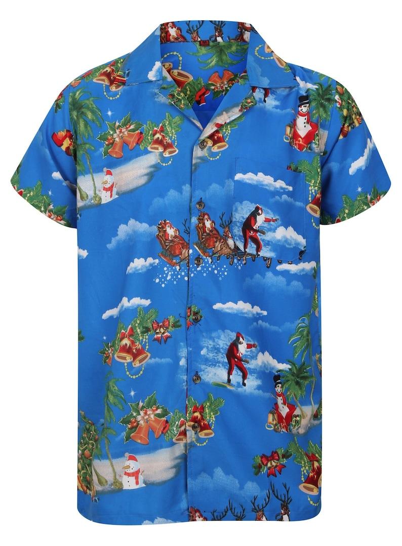Christmas Hawaiian Shirts.Christmas Hawaiian Shirt Mens Santa Loud Hawaii Surf Xmas Hat Party Slay Pudding Reindeer Jumper S M L Xl Xxl