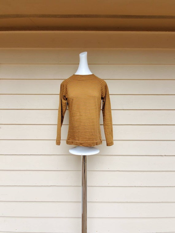 Vintage 1960's Striped Long Sleeve Top by Gretta P