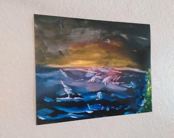 Impressionist Seascape print by Donny Podrasky 16x20