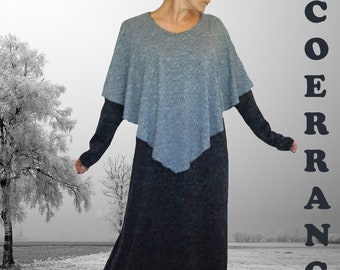 Long stretch knit dress, long dress, ethnic dress, stretch dress, 'Winter style...'