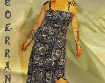 Dress asymmetrical tunic 'Army mandala...'