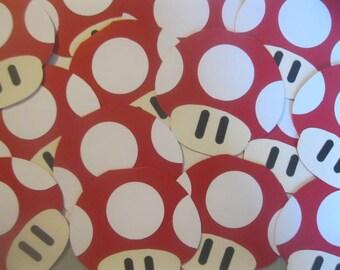 Mario Brothers Mushroom Invitation