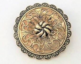 Vintage Accessories ~  Vintage  Scarf Holder   West Germany  Gold  Medallion