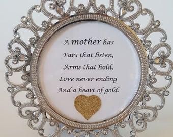 Mother's Day sentiment in frame