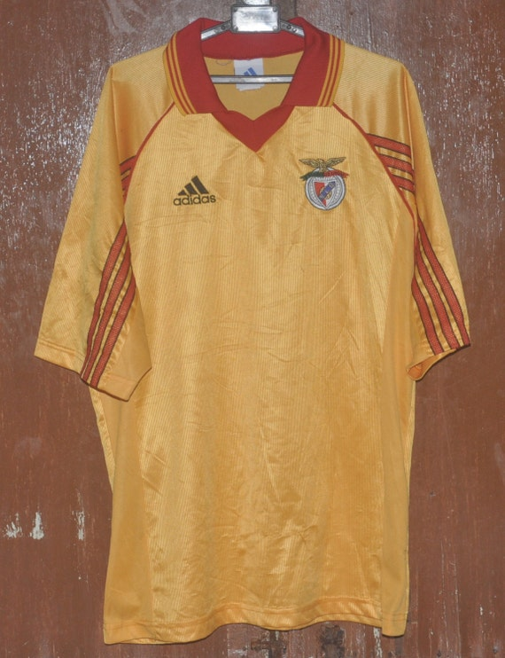 best service 17fdd cbc53 Vintage 90s BENFICA Football Soccer Portugal Club Away Jersey Adidas  T-Shirt made in Brasil