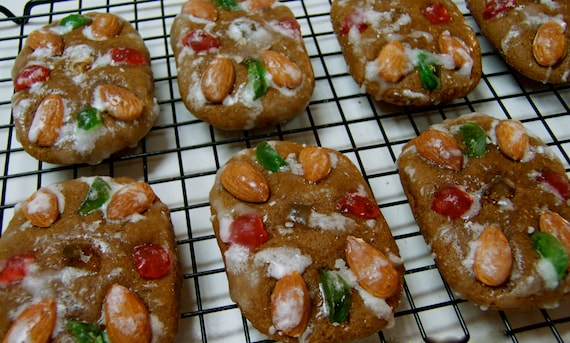Lebkuchen Cookies 1 dozen, German Christmas Honey Cakes,German Christmas Cookies