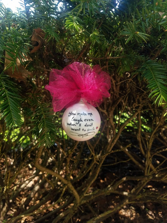 Freehand You Make Me Laugh Quote Ornament Home Made Drawn Art Etsy New You Make Me Laugh When I Dont Even Want To Smile