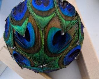 Handmade Peacock Feather Decorative Ball