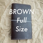 Brown chromexcel full size cover