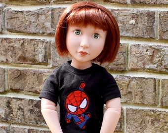 """Super Hero Chibi T-shirt and legging  doll clothes for your 16"""" A Girl for All Time doll"""
