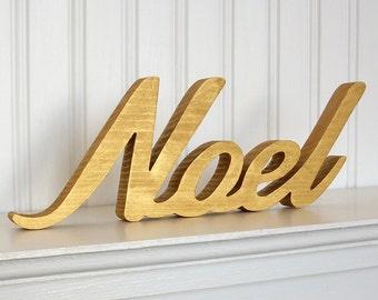 Noel Wood Letters Etsy