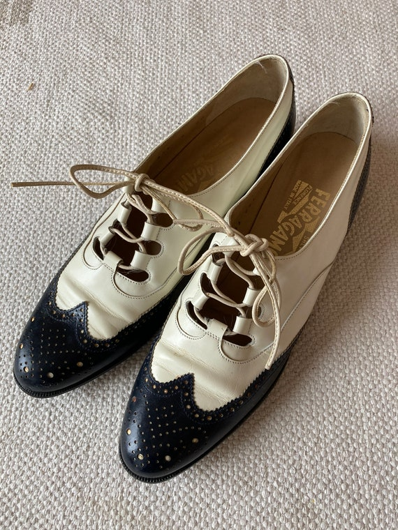 Ferragamo Oxford shoes navy blue