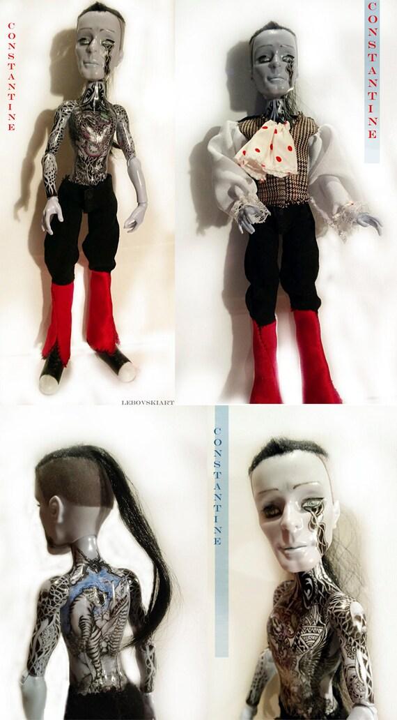 Monstruo alto repintado Art Doll OOAK Constantino pintado | Etsy