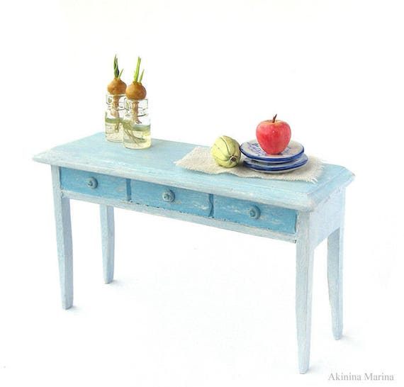 1:12 scale doll house miniature furniture Handmade Red wooden desk