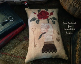 Hand /& Heart Stitcher/'s Mat ~ Cross Stitch Pattern from Scattered Seed Samplers\u00a9 2018 by Designer Tammy Black