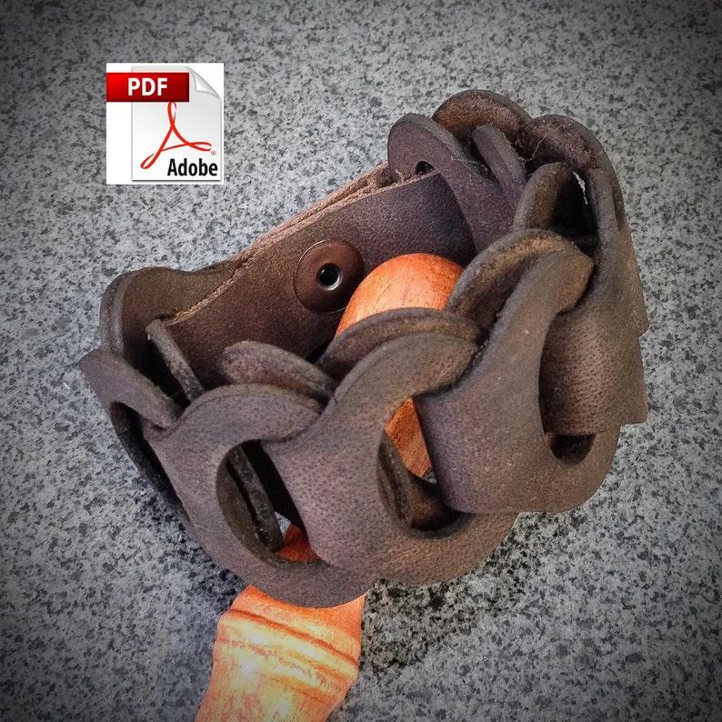 PATTERN  Leather Link Bracelet Pattern / Leathercraft Pattern image 0