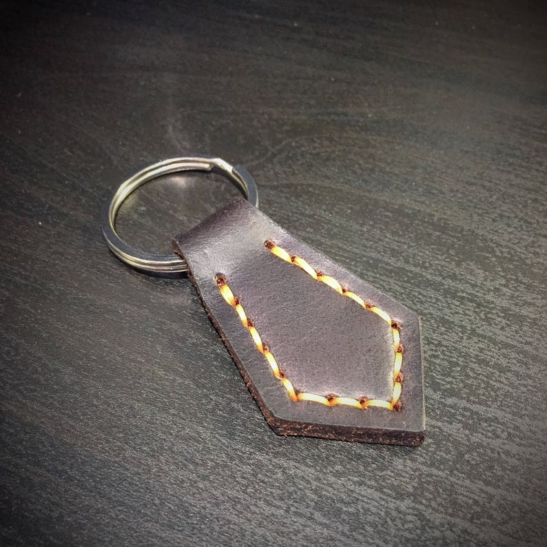 Leather Tie Keychain  Leather Keyfob  Horween image 0
