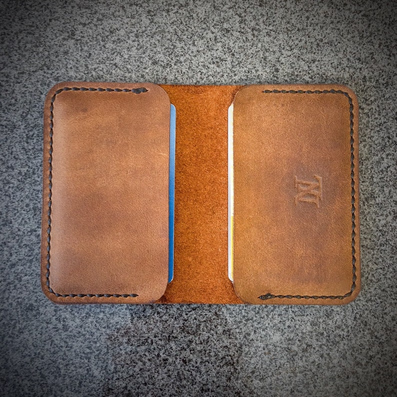 Leather Card Wallet  Card Holder  Minimalist Wallet  image 0
