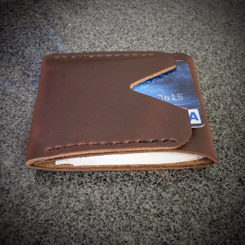 Leather Minimalist Wallet  Vertical Wallet  Men's Wallet image 0