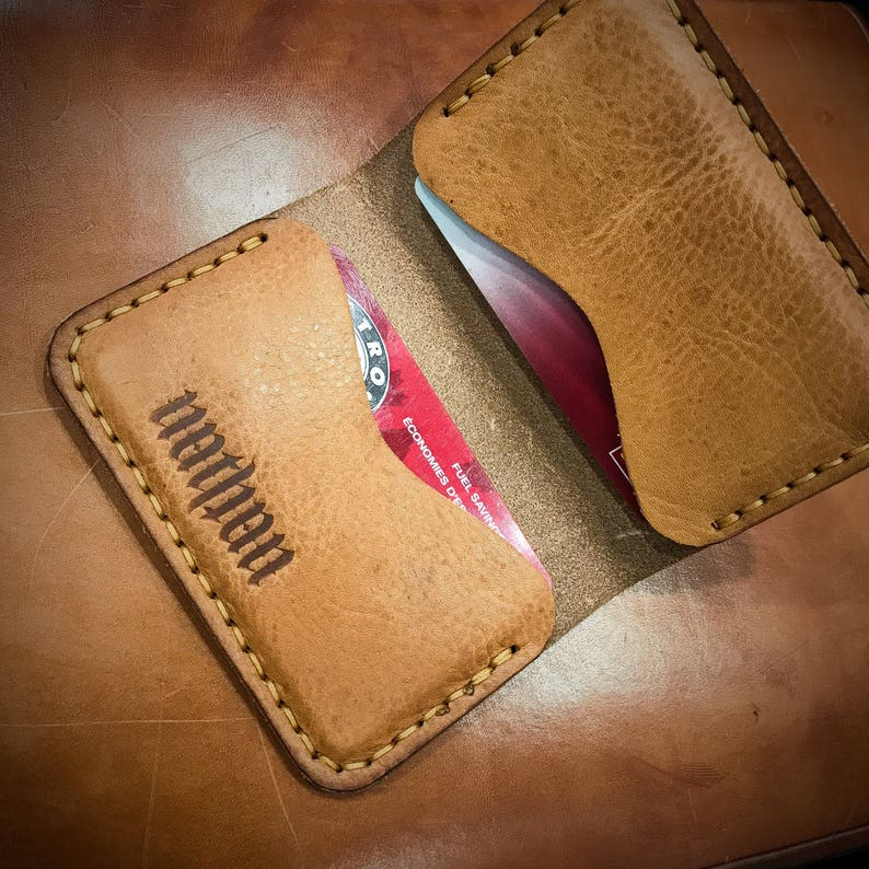 Leather Card Wallet  Card Holder  Business Cards Holder  image 0