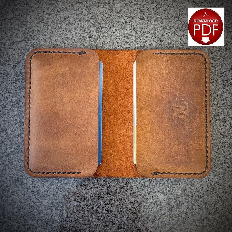 PATTERN  Leather Wallet Pattern / Leathercraft Pattern / image 0