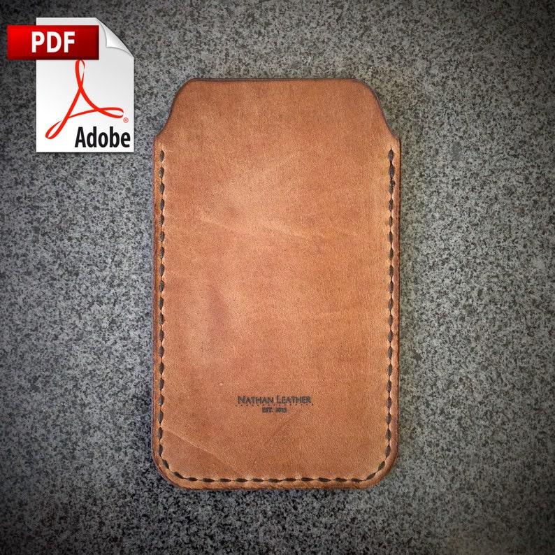 PATTERN  Leathercraft Pattern for Iphone Case 5/6/6  DIY image 0