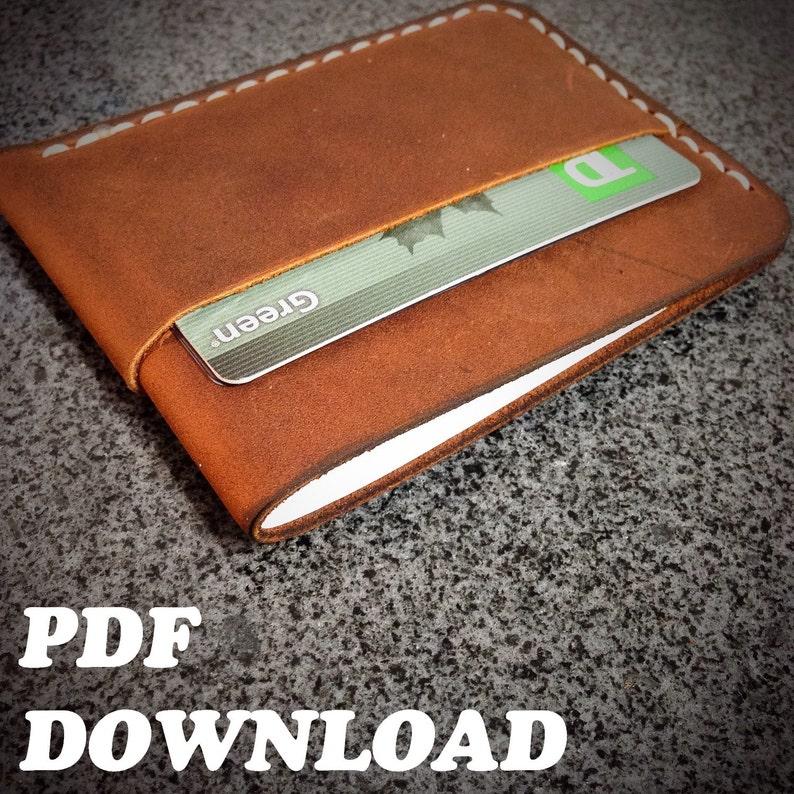 PATTERN  Leather Minimalist Wallet Pattern / Leathercraft image 0