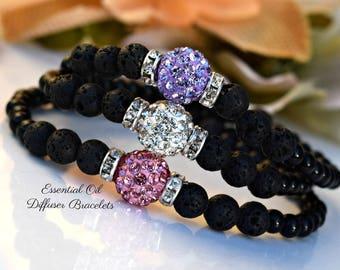 Lava Stone Essential Oil Diffuser Bracelets/Healing Jewelry/Gemstones/Chakra