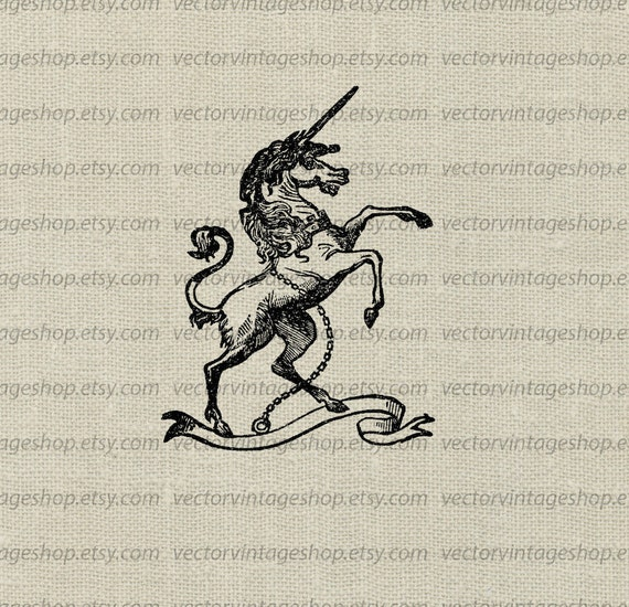 unicorn vector graphic instant download medieval myth clip etsy