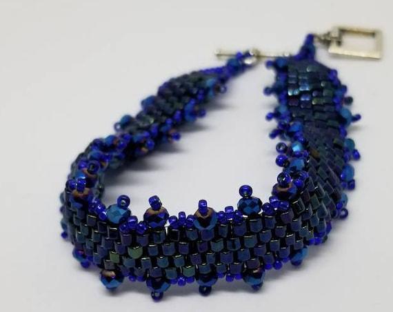 Midnight blue crystal bracelet Rita Caldwell