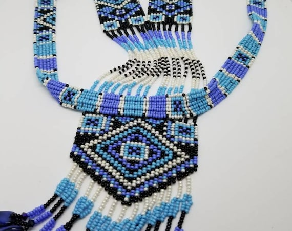 Pow wow regalia Native American inspired necklace Rita Caldwell