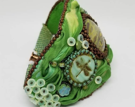 As the Dragon fly's bracelet Rita Caldwell Native American inspired
