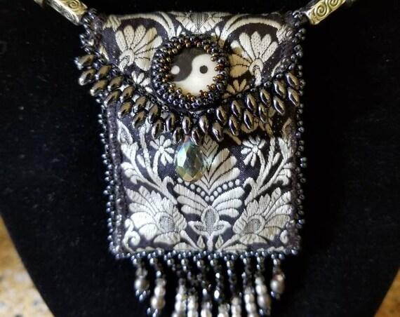 Yin Yang medicine bag Rita Caldwell Native American inspired