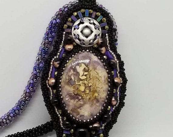 Purple Rainbows Edge Rita Caldwell Native American inspired beadwork