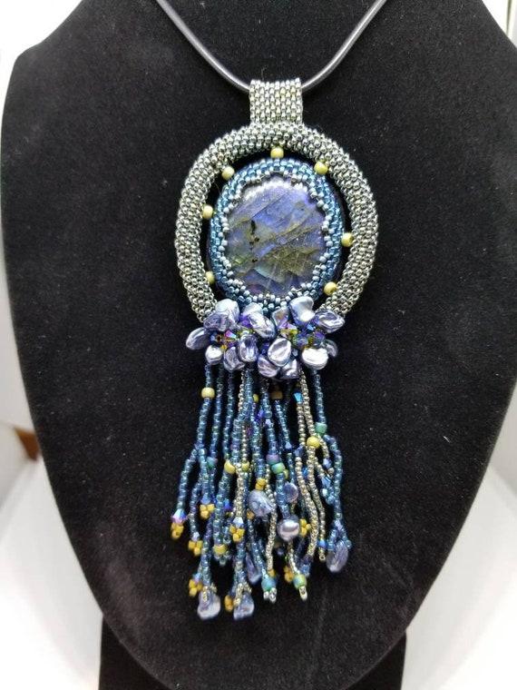 Majestic waters Native American inspired beadwork Rita Caldwell