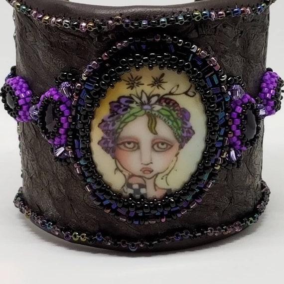 Goth girl cuff bracelet Rita Caldwell