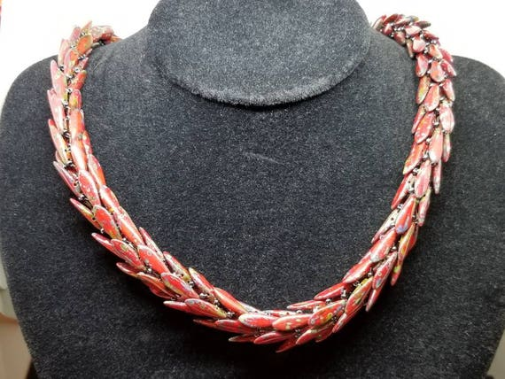 Red snake Picasso rope Native American inspired Beadwork Dreams Raven