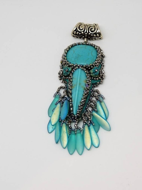 Turquoise and silver dreams Rita Caldwell Native American inspired
