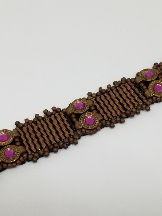 Copper  and purple bracelet Rita Caldwell Native American inspired