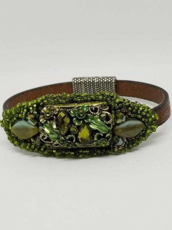 Spring bracelet in green Rita Caldwell