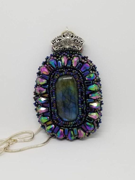 Purple Rainbows pendant Native American inspired Rita Caldwell