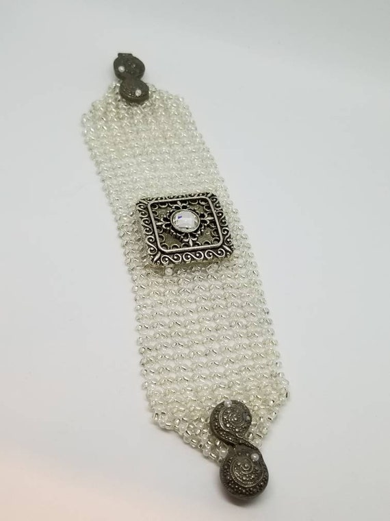 White wedding bracelet Rita Caldwell
