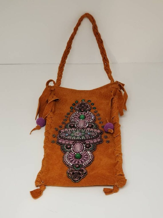 Mountain girl cell bag Rita Caldwell Native American inspired